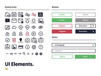 Property Ui Elements minimal design interface style guide icon set icons ui