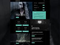 Dj Website audio dj dubfire wip minimal player music ux ui