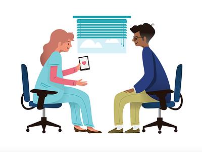 Patient Care art design healthcare illustration