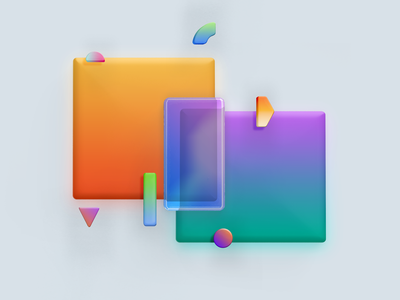 Abstract studies illustration shapes 3d colorful abstract