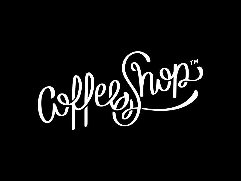 Coffee Shop type agency shop coffee lettering logo branding