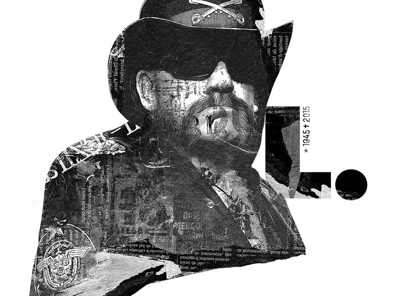 Lemmy Kilmister portrait illustration rock n roll rock kilmister lemmy