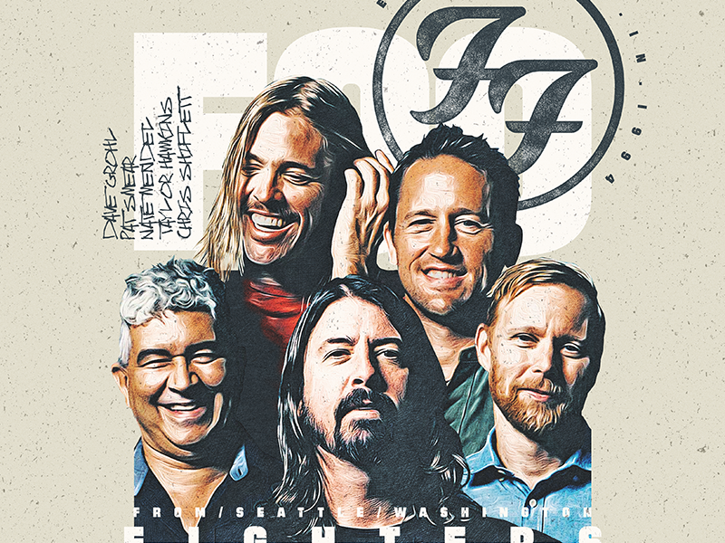 Foo Fighters dave grohl rock graphic design poster foo fighters