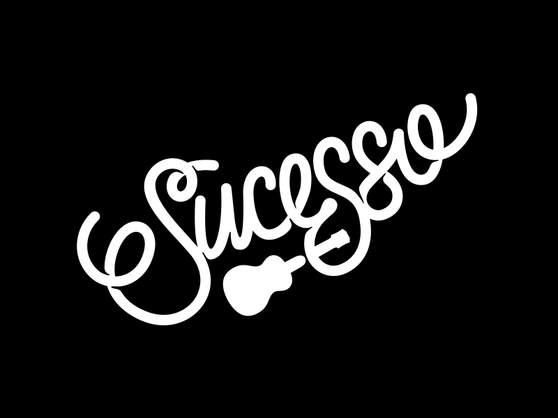 Sucesso branding letters letter typography type logo lettering success