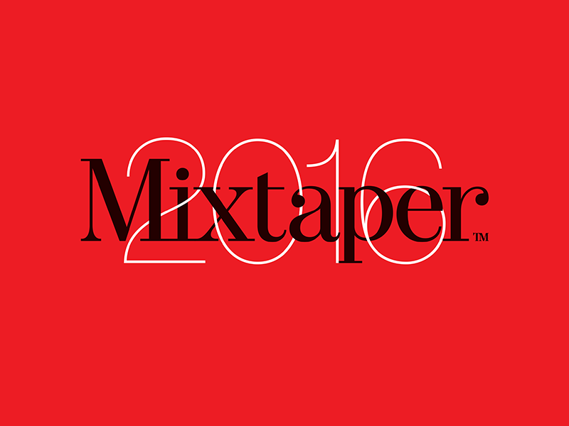 Mixtaper typeface typography font clean graphic design identity logo