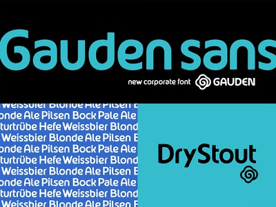 Gauden Sans beer corporate typography typeface font