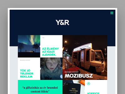 Y&R Budapest microsite - Home page website budapest yr concept
