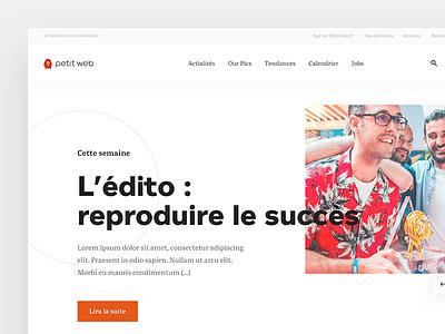 petit web - first screen - WIP news bold clean