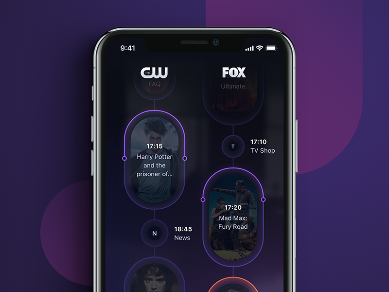 torb - home screen - revamped revamped torb app program tv