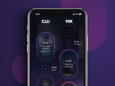 torb - home screen - revamped revamped torb app program tv