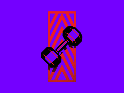 Dumbbell Illustration gymnastic purple rain vector graphic design sport dumbbell crossfit