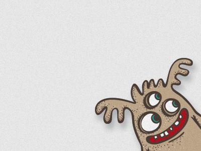 Monster1 monster illustration vector cute character design brown red smile smiling funny