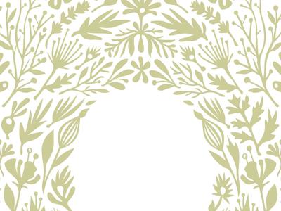 Hidden Garden illustration vector branding brand packaging design drawing green flower flowers leaf nature