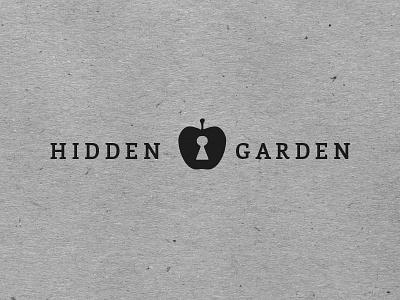 Hidden Garden 2015 branding brand developing logo logo design apple black keyhole rebranding