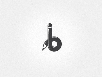 'b' logo wip b pencil letter branding logo design artist brand concept drawing sketching
