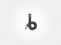 'b' logo