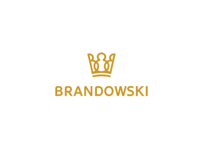 Brandowski brand identity logo design designer crown yellow art
