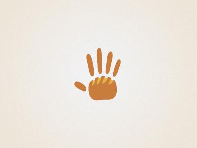 Logo concept 2 bread bekary artisan handmade hand print hand logo design graphic design brand identity