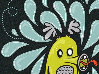 Monster1 monster fun funny illustration design vector graphic design character green blue cute weird