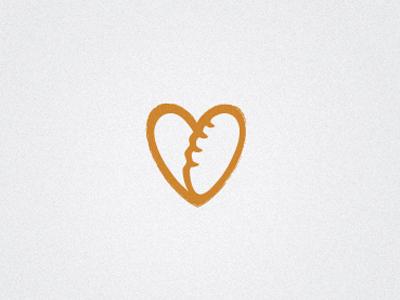 Concept3 bread bakery artisan love heart logo design brand