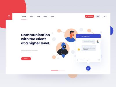 Communication Website Concept