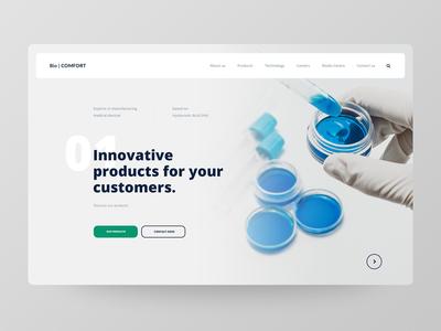 Science Website Concept