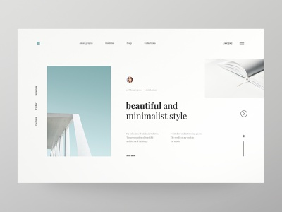 Minimalist Architecture - concept typography buildings architecture building web design minimalist webdesign concept website ux ui design