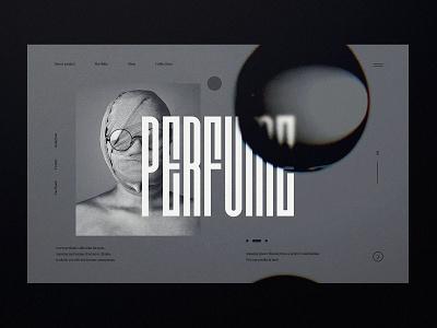 Perfume For Men website - concept uiuxdesign web typography webdesign perfume minimalist concept ux ui design website web design