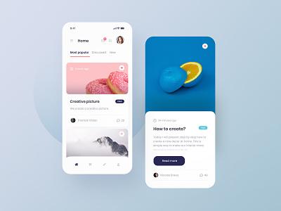 Simple Blog UI - concept blogging blog app concept minimalist minimalistic simple design ux mobile ui ui mobile