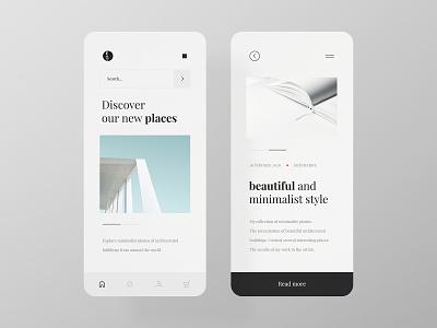 Minimalist Architecture - app mobile app blog app web design website minimalistic very simple simple architecture minimalist mobile ux ui design minimal