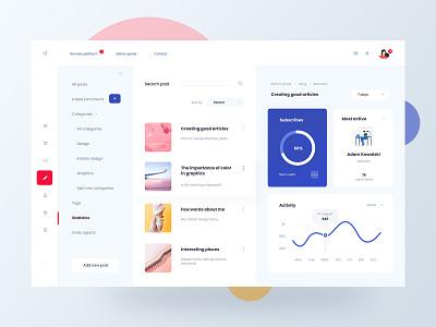 Dashboard - Admin Panel webdesign concept minimalist design website concept colours illustrations website design flat ux ui dashboard web design website