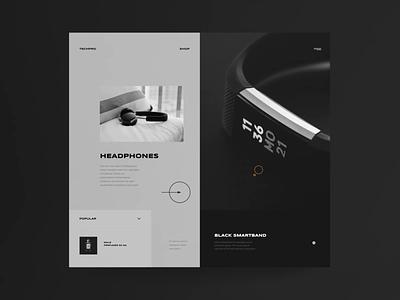 Techpro website concept website concept animation brand web design modern typography minimalist concept ux ui website design video website design