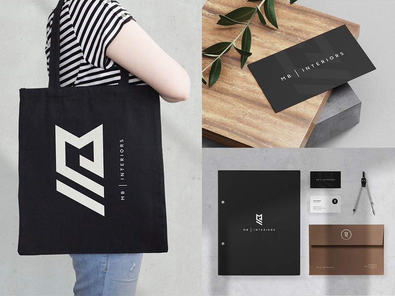 Marta Bukala Interiors - Branding interior design interior architect envelope business card branding design stationery brand minimalist brand identity logo printing branding design