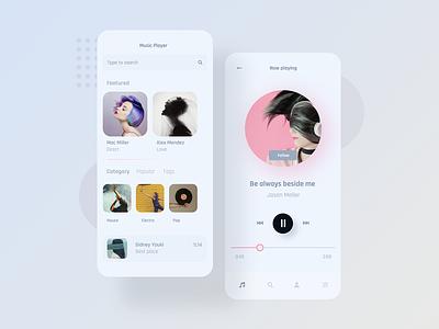 Mobile Music Player - Concept artwork concept design app player music app appdesigner concept minimalist design concept art uiux app ux ui mobile