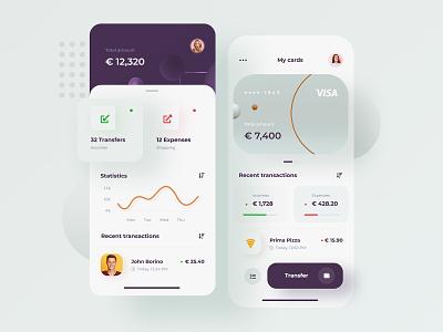 Financial UI Concept - app illustration minimalist mobile app app design application prototype ui kit financial app mobile app concept ux ui design