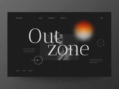 Out Zone - Website Concept for 404 Page / Internal clients web webdesign concept minimalist web design typography website ux ui design