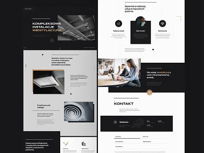 Website design Venticore mobile branding minimalist brand typography webdesign web design website ux ui design