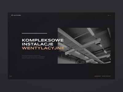 Website design Venticore - Video minimal web minimalist webdesign web design typography website ux ui design animation