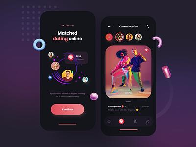 Dating app - concept app mobile app design minimalist design uxdesign mobile design mobile ui dating datingapp couple application concept ux ui mobile app mobile