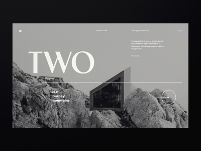 Travel in the mountains - Blog architecture web minimal clean ui architect webdesign web design website concept ux ui minimalist design
