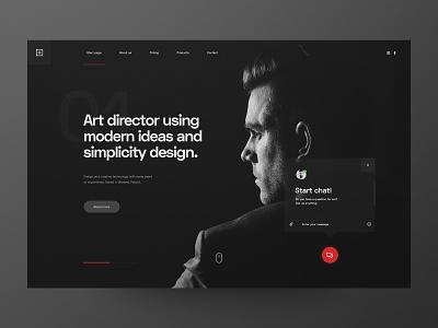 Website for Art Director - concept artist clean website minimalism art director designer portfolio uxdesign ui design concept design web design minimalist ux webdesign website ui glassmorphism glassmorphic