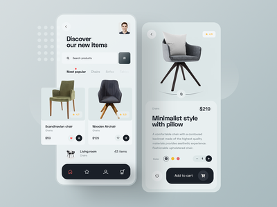 Furniture Shop - Mobile View mobile design architect designer interior chair furniture mobile app design app minimalist design concept ux ui mobile ui mobile app mobile