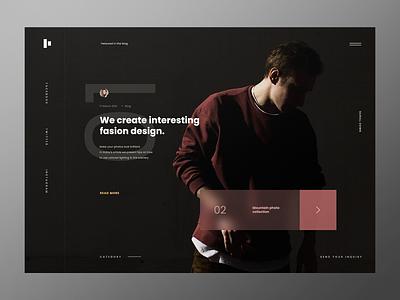 Fashion Blog - Website Landing Page post production designer fashion post card slider post design blogging web design webdesign concept website ui ux minimalist design