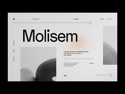 Architect Gallery - Website Landing Page webdesig website concept web design cleaning minimal architect clean ui white black clean ux ui minimalist design