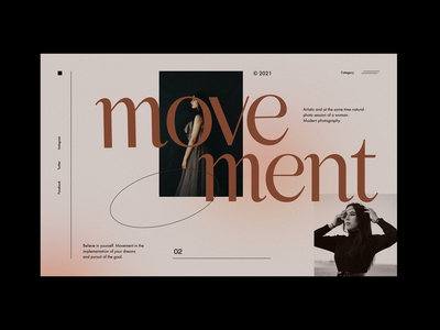 Movement - Modern Website concept concept web design website ux ui dark line glamour collection gallery photo beauty clothes celebrity fashion modern