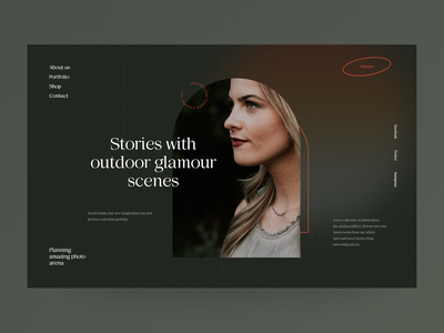 Glamour Outdoor - Website concept webdesigner simple photography session photomodel glamour webdesign web design website ux ui minimalist design