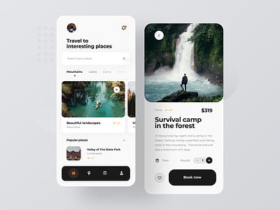 Travel - Mobile App concept mobile design concept mobile ui journey hotel survival travel design minimalist mobile app design ui concept mobile app mobile ux ui