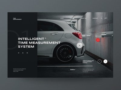 Time measurement System - Website concept vehicle car system parking webdesign design minimalist web design concept ux ui website