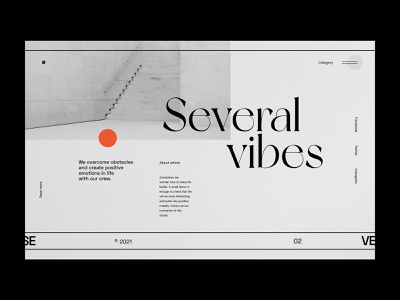 Several Vibes - Website concept concept editorial layout minimalist silver hero blog editorial webdesign web design website ux ui design