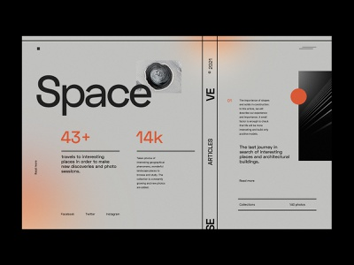 Space - Website concept website design web concept future minimalist design webdesign web design website ux ui